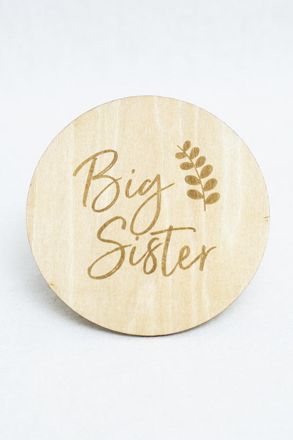 Big Sister Milestone Disc   Trada Marketplace