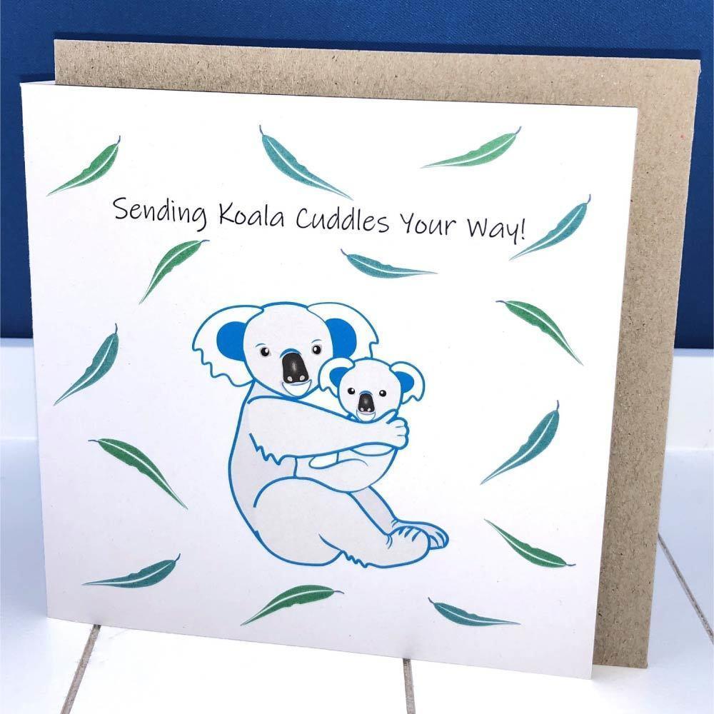 CARD Koala Cuddles Blue  Keepsake  | Trada Marketplace