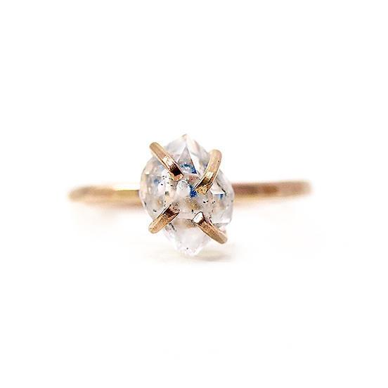 Herkimer Diamond Ring Gold Filled | Trada Marketplace