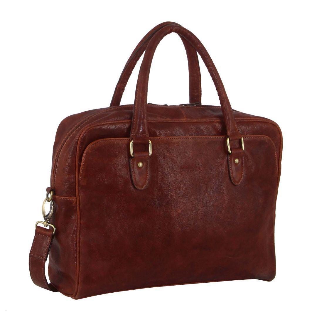 Pierre Cardin Rustic Leather Computer/Business Bag   Trada Marketplace