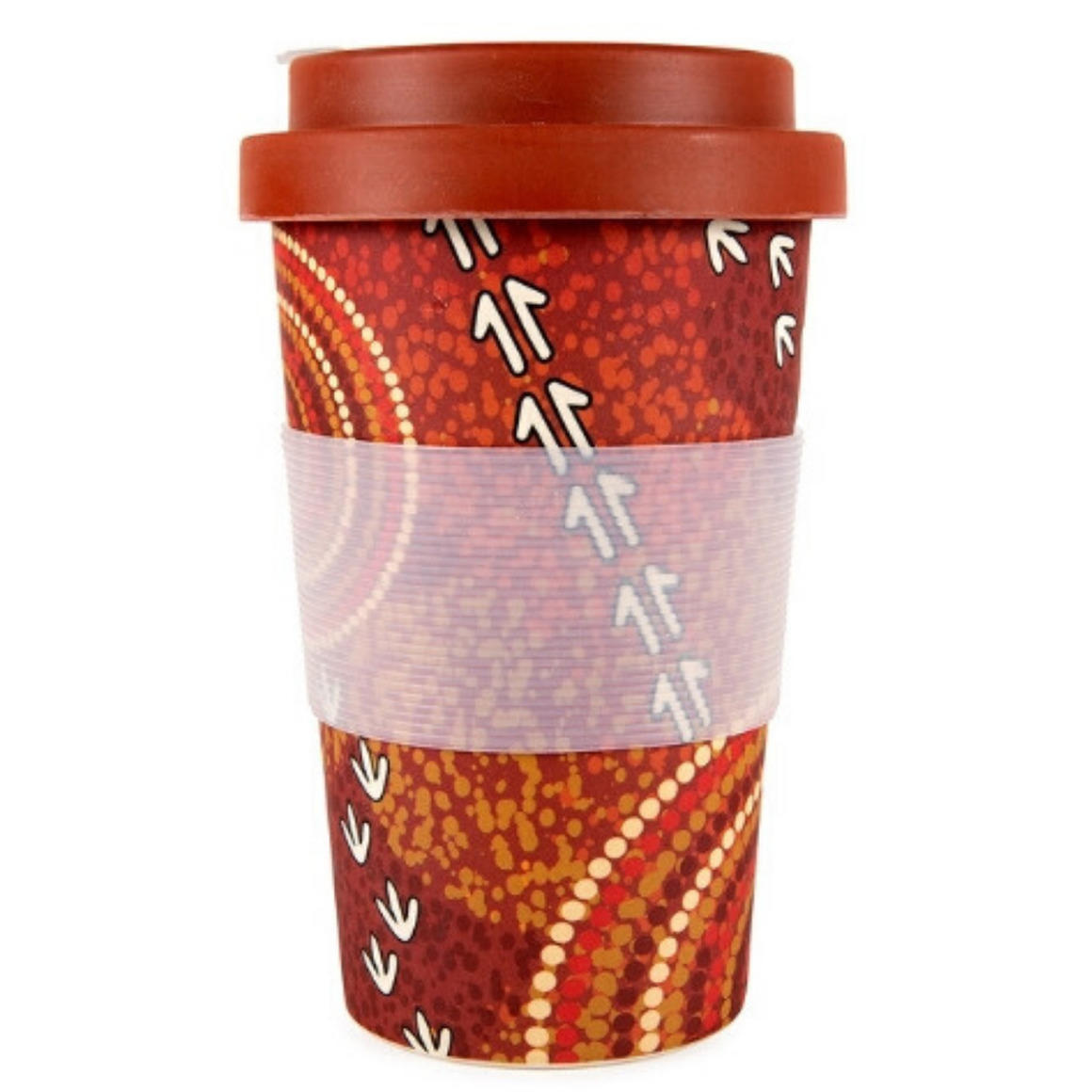 Coffee Cup Bamboo Aboriginal Design  - Dry Design - Luther Cora    Trada Marketplace