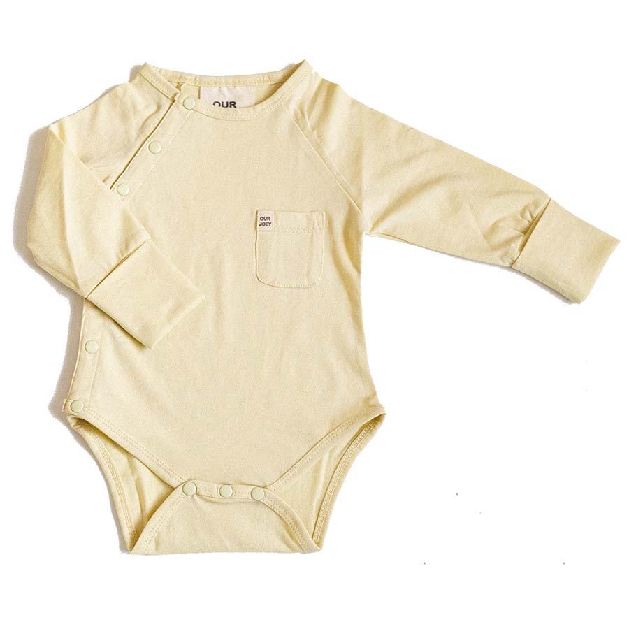 Organic Long-sleeve Bodysuit - Pear | Trada Marketplace