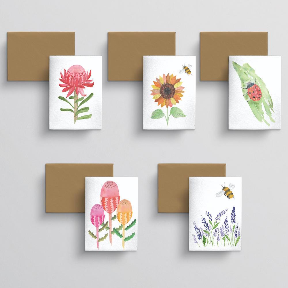 Greeting card 10 pack Flora | Trada Marketplace