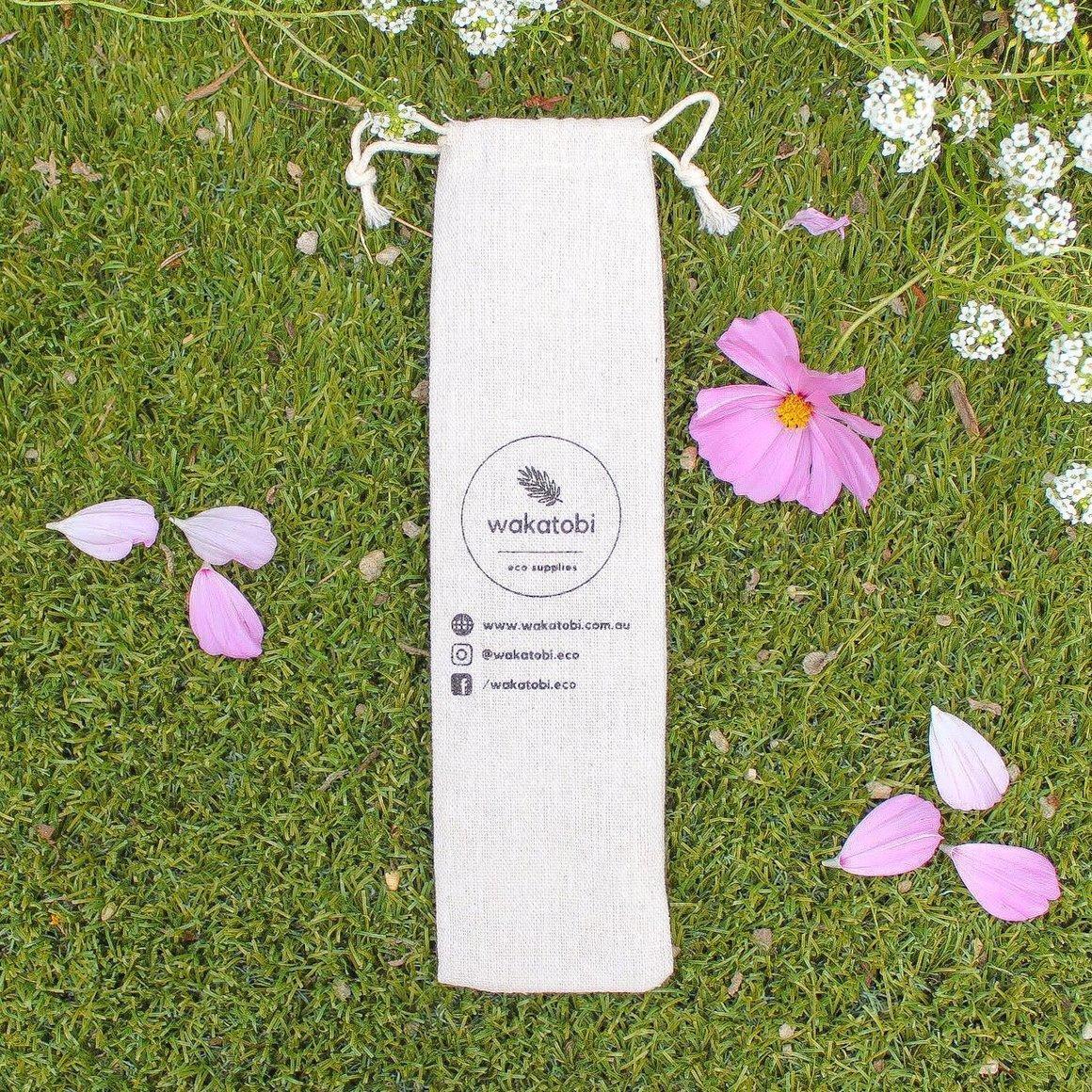 Reusable Cotton Pouch for Reusable Straws   Trada Marketplace