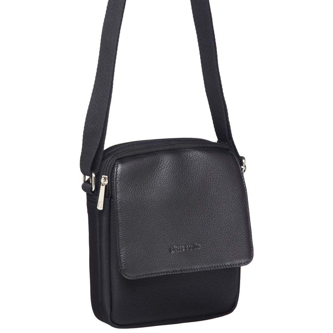 Pierre Cardin Italian Leather/Ballistic Nylon Travel Bag   Trada Marketplace