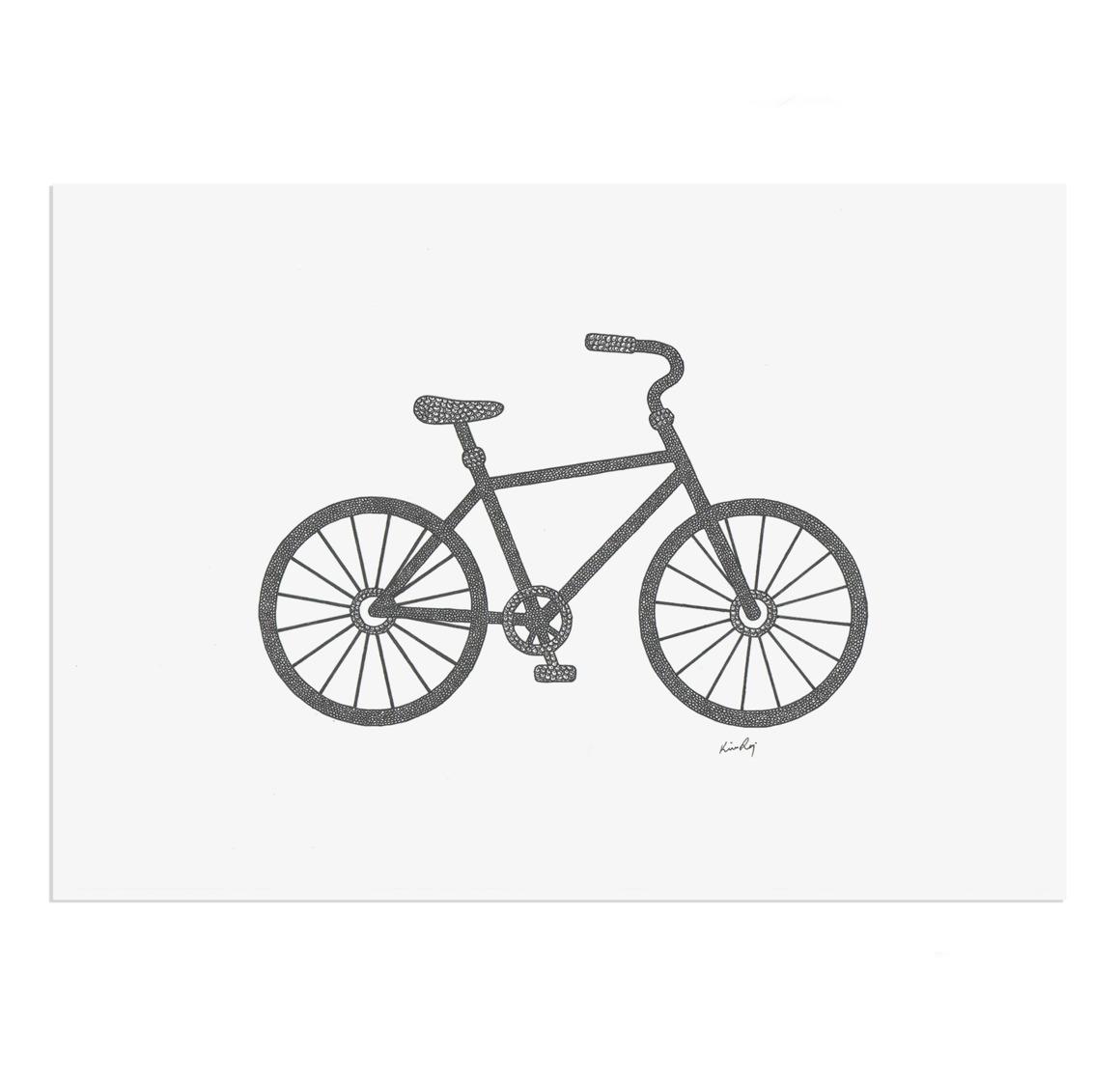 Bicycle Drawing Print | Trada Marketplace