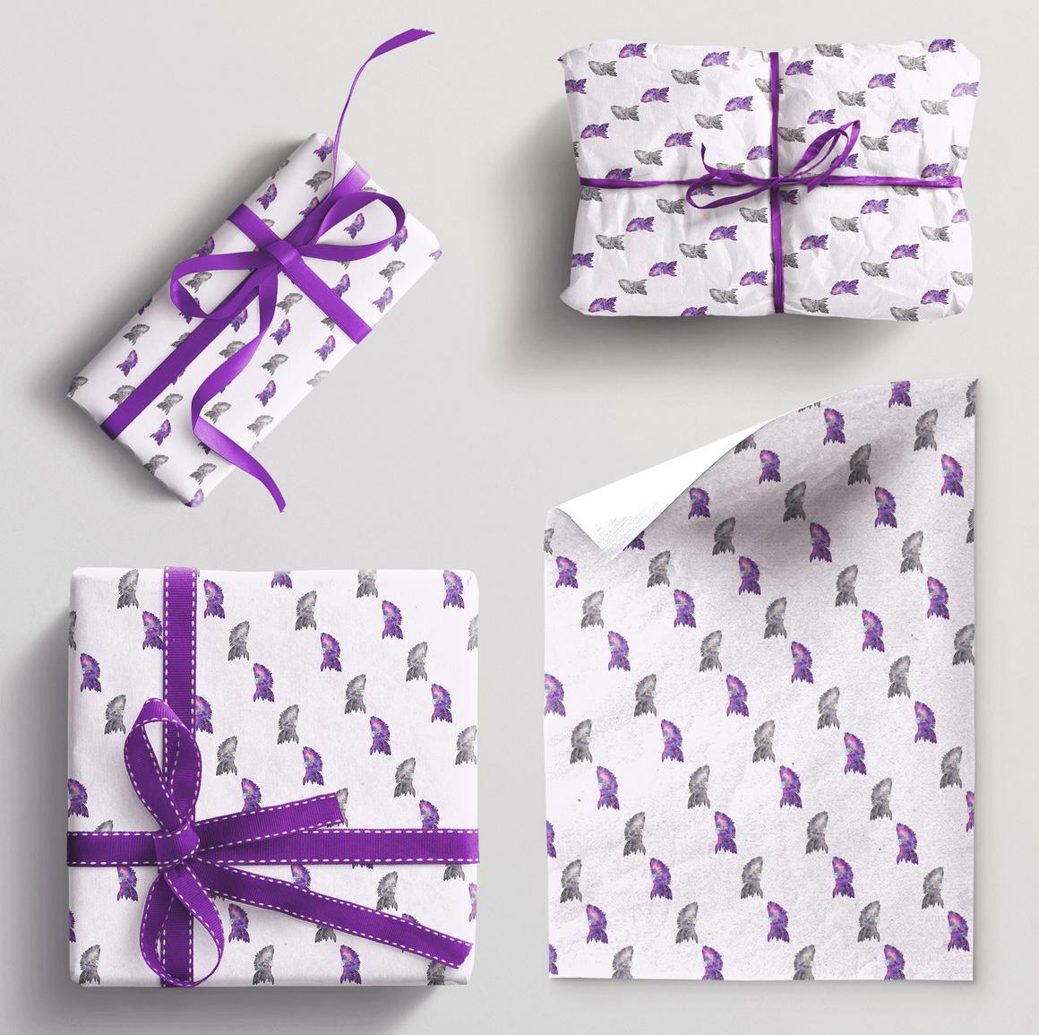 Wrapping paper single sheet Cockatoo | Trada Marketplace