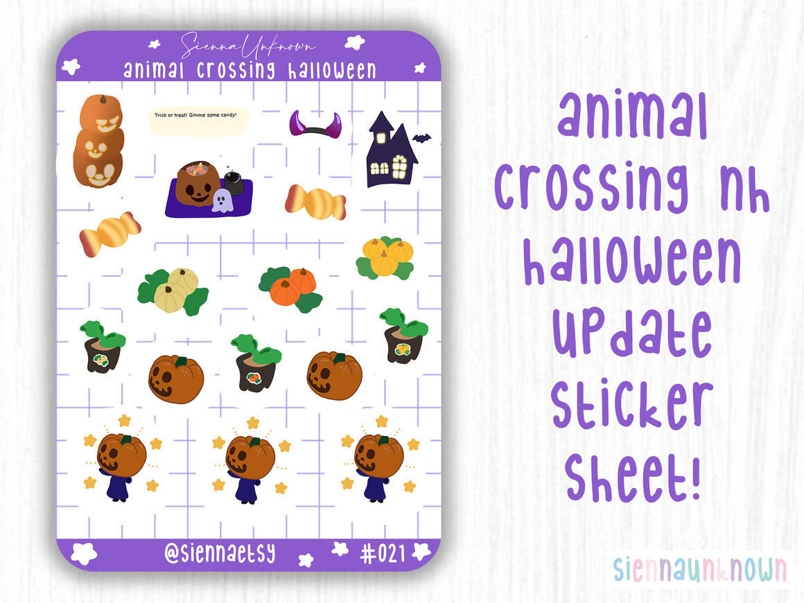 Animal Crossing Halloween Stickers | Trada Marketplace