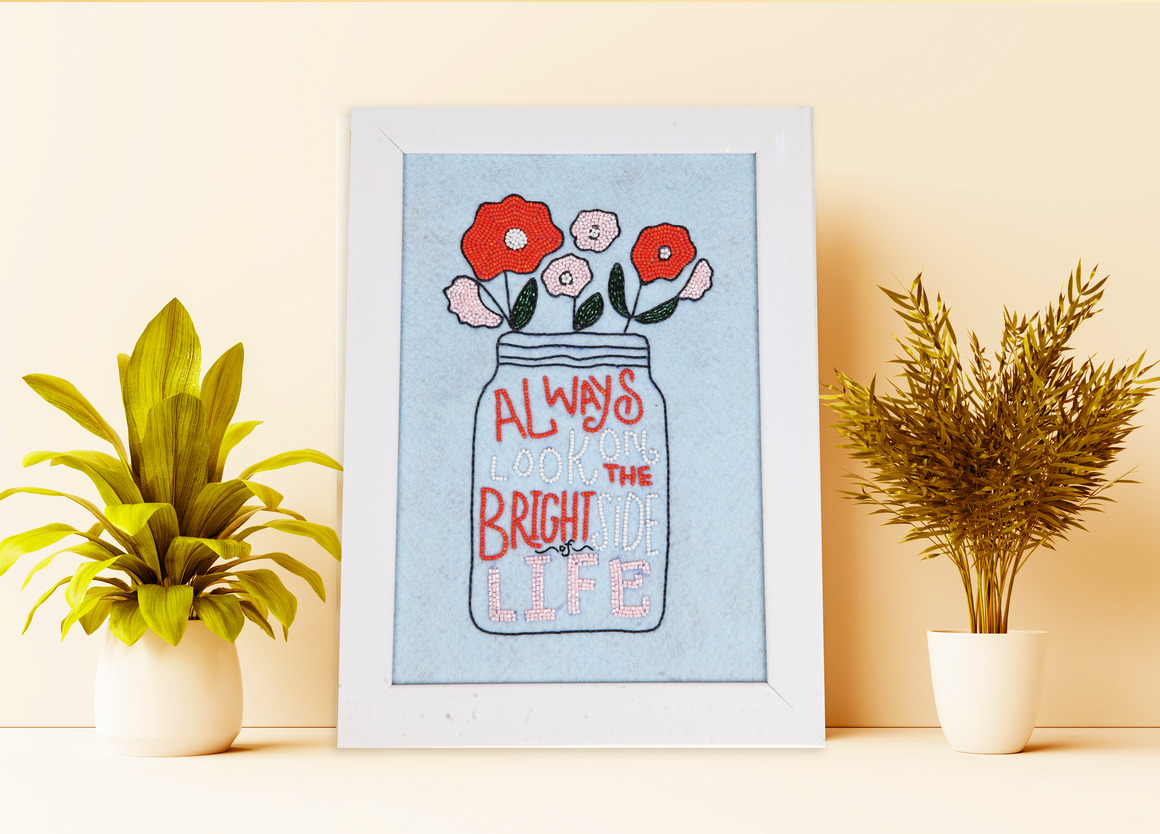 ALWAYS LOOK AT BRIGHT SIDE Wall Art TURQUIOSE   Trada Marketplace