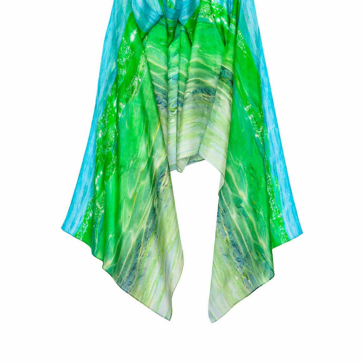 Glass Wave Long Silk Scarf   Trada Marketplace
