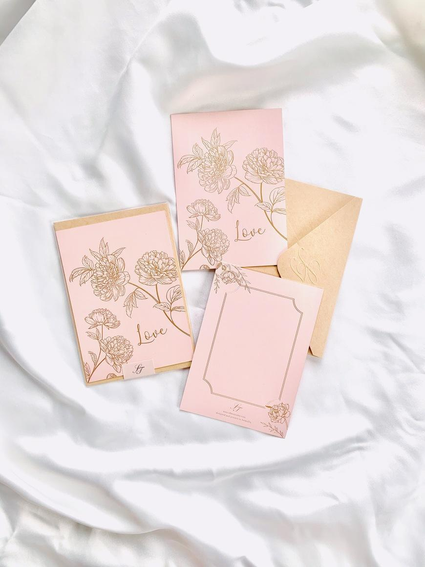 Peonies Love Card   Trada Marketplace