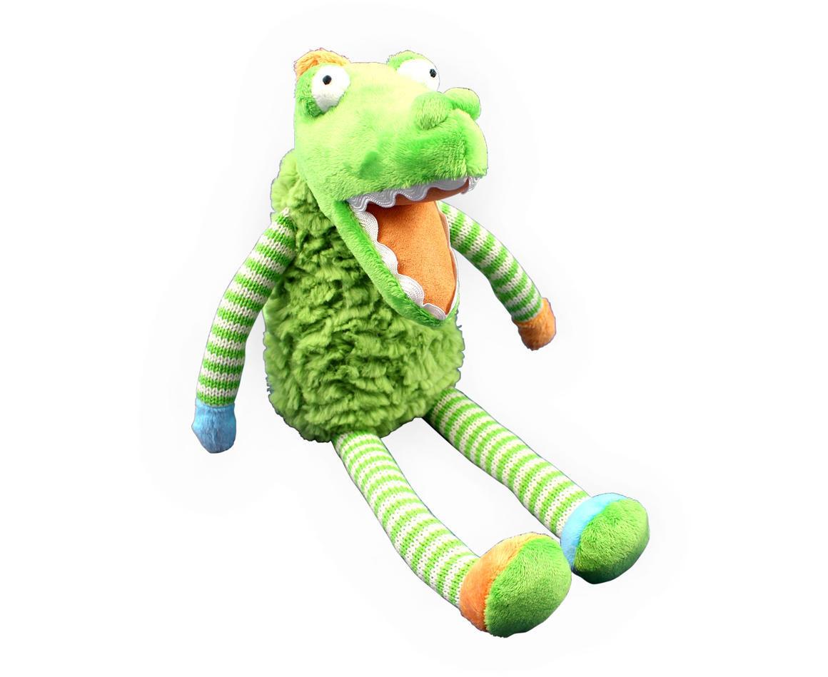 Plush Toy Crocodile - Blue/Green Striped    Trada Marketplace
