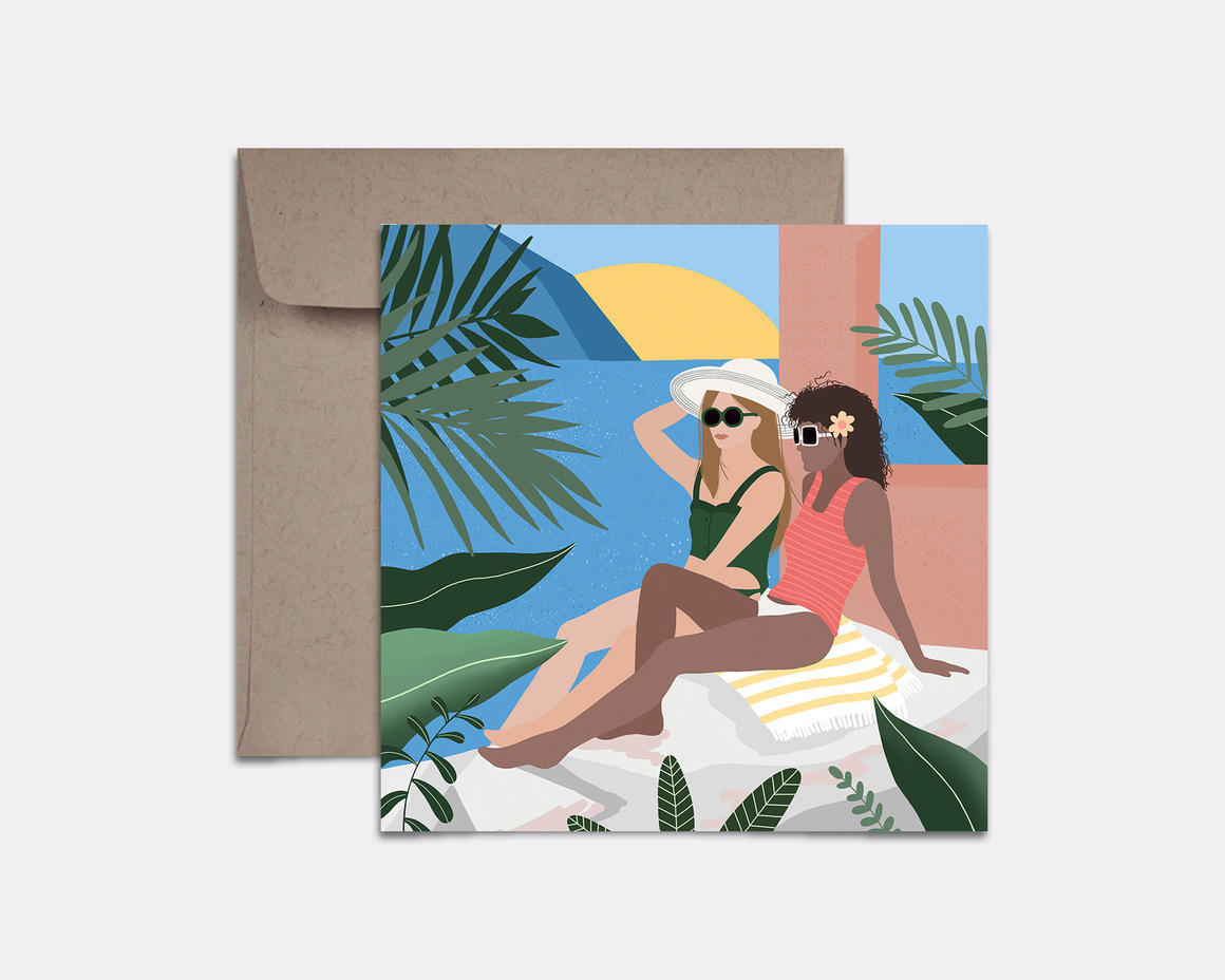 Tropical Vacay Card | Trada Marketplace