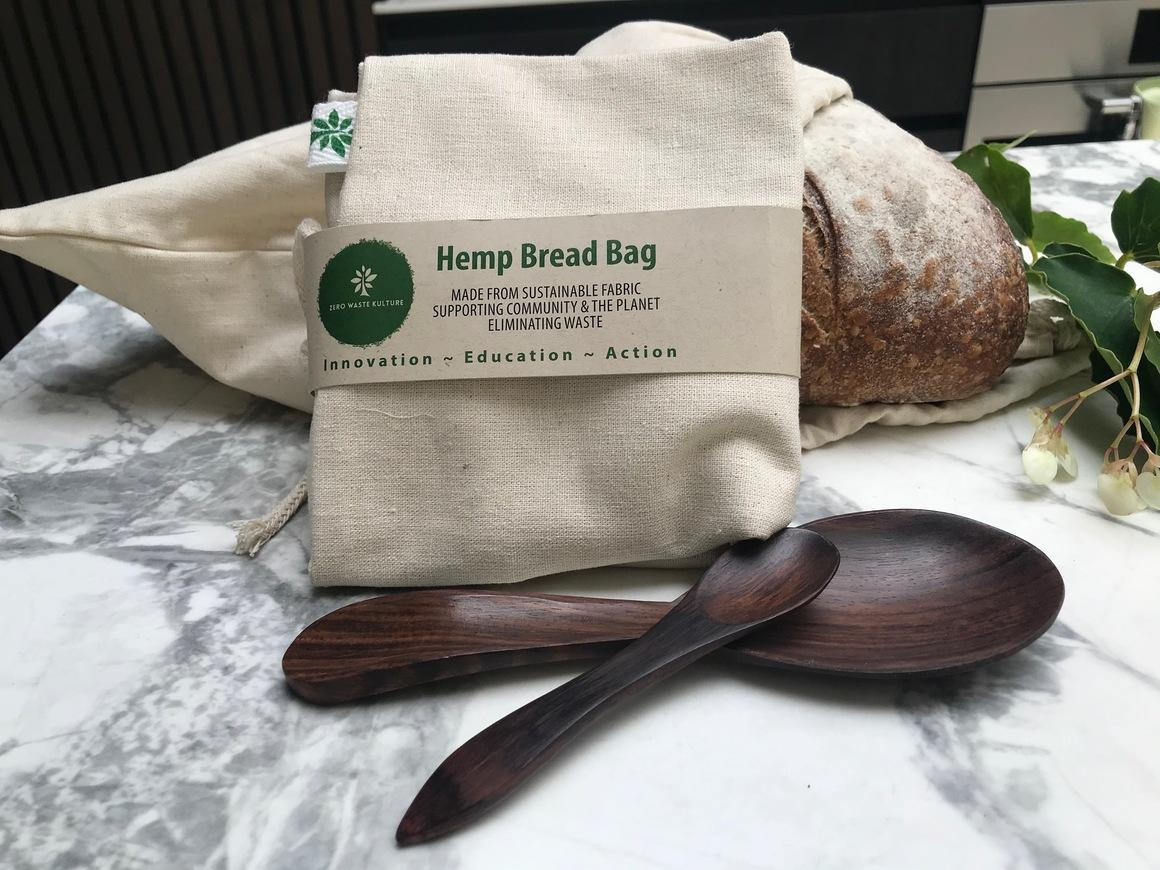 Bread Bag - Hemp   Trada Marketplace