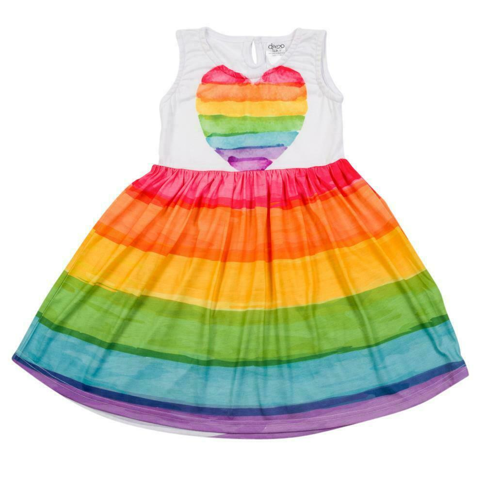 Rainbow heart - Classic Boho Dress | Trada Marketplace