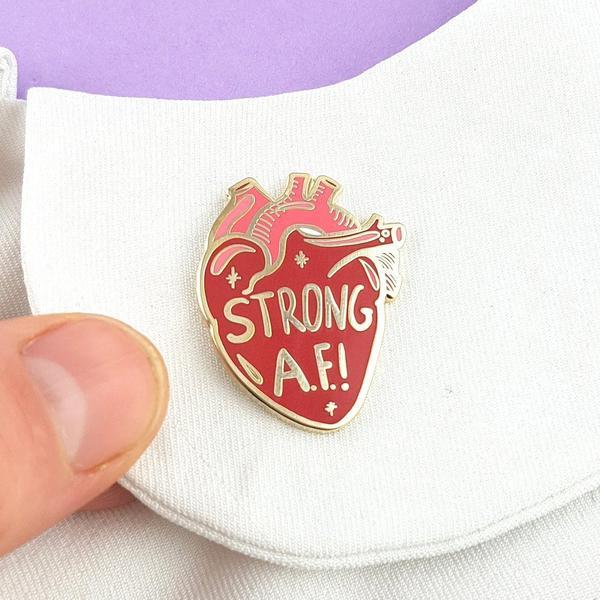 Strong A.F. Lapel Pin   Trada Marketplace