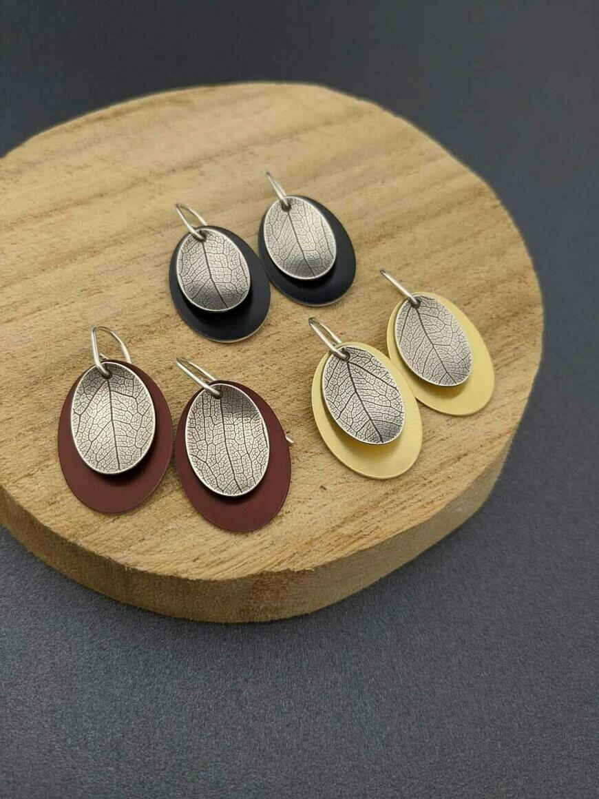 AUTUMN – small leaf earrings   Trada Marketplace