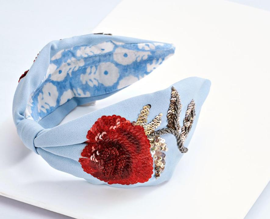ROSELLE Headband Blue   Trada Marketplace