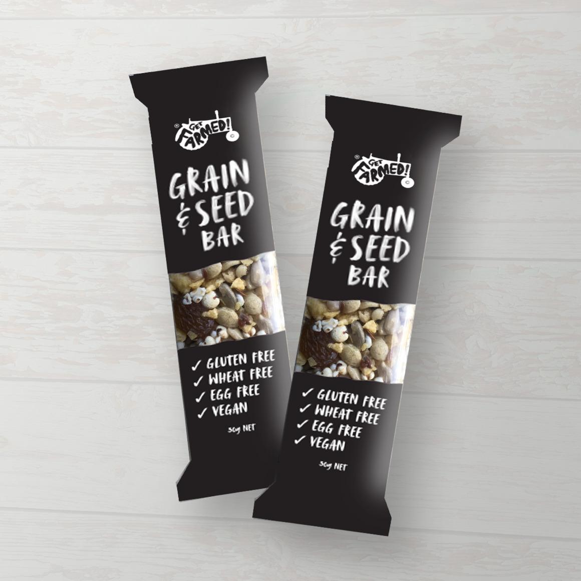 Get Farmed! Gluten Free Grain & Seed Bar (Shelf Ready Packaging) | Trada Marketplace