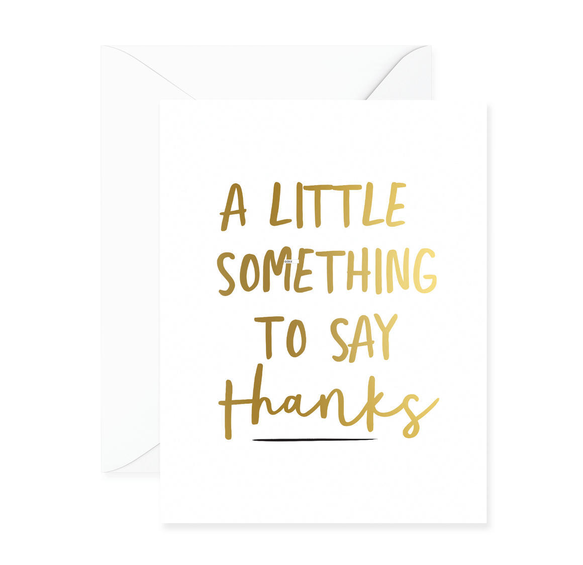 A Little Something To Say Thanks Greeting Card | Trada Marketplace