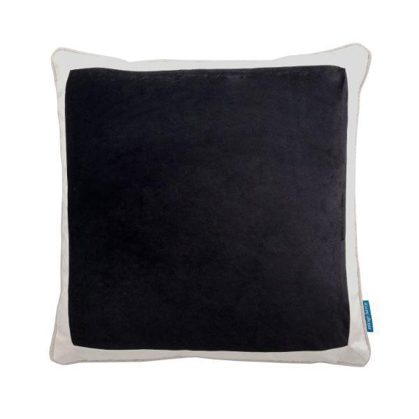 CALDER Black and White Border Velvet Cushion Cover 50 cm by 50 cm   Trada Marketplace