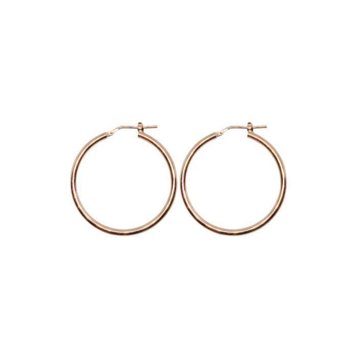 40mm Sterling Silver Gypsy Hoop Earrings - Silver, Gold and Rose gold | Trada Marketplace