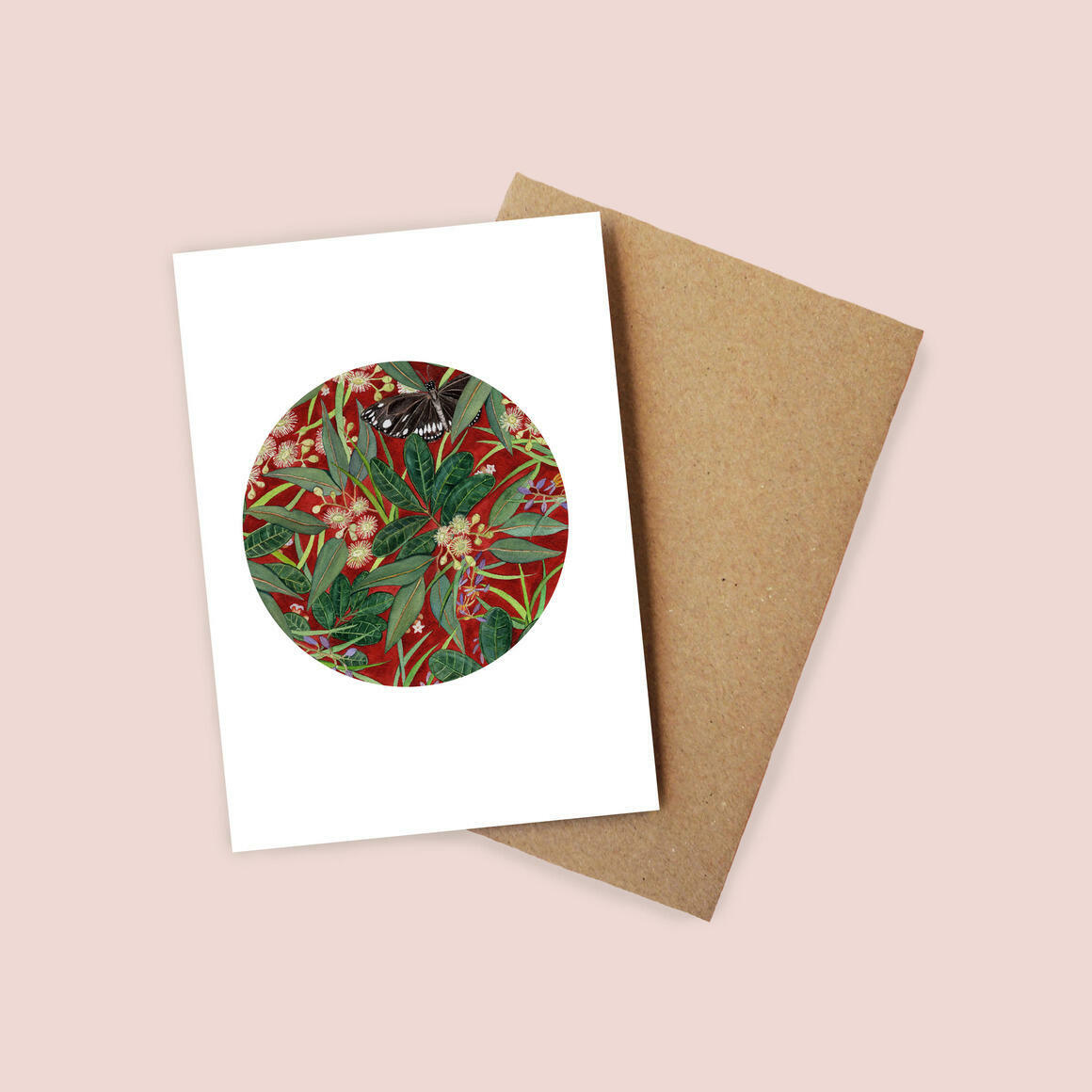 Greeting Card - Butterfly in the Eucalyptus | Trada Marketplace