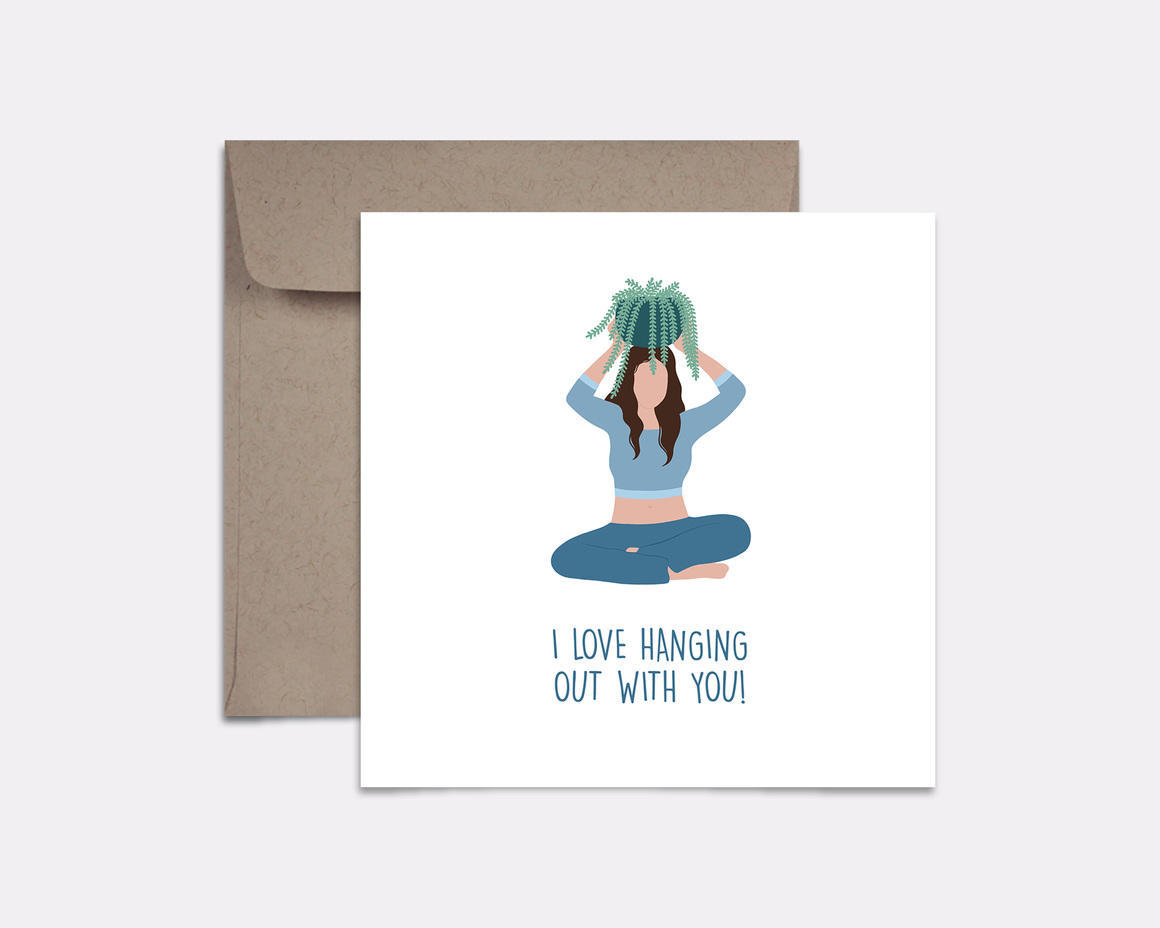 Hanging With You Card | Trada Marketplace