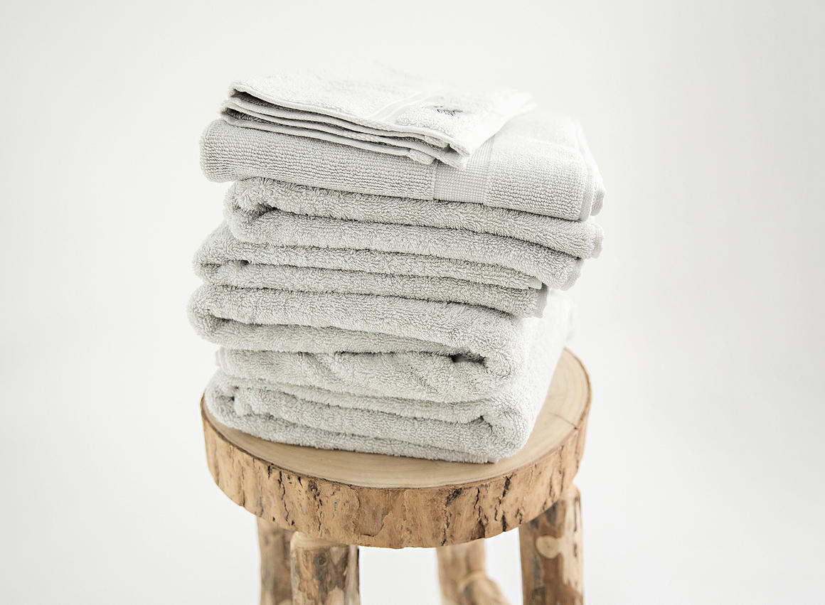 Premium organic towel set 7 piece stone   Trada Marketplace
