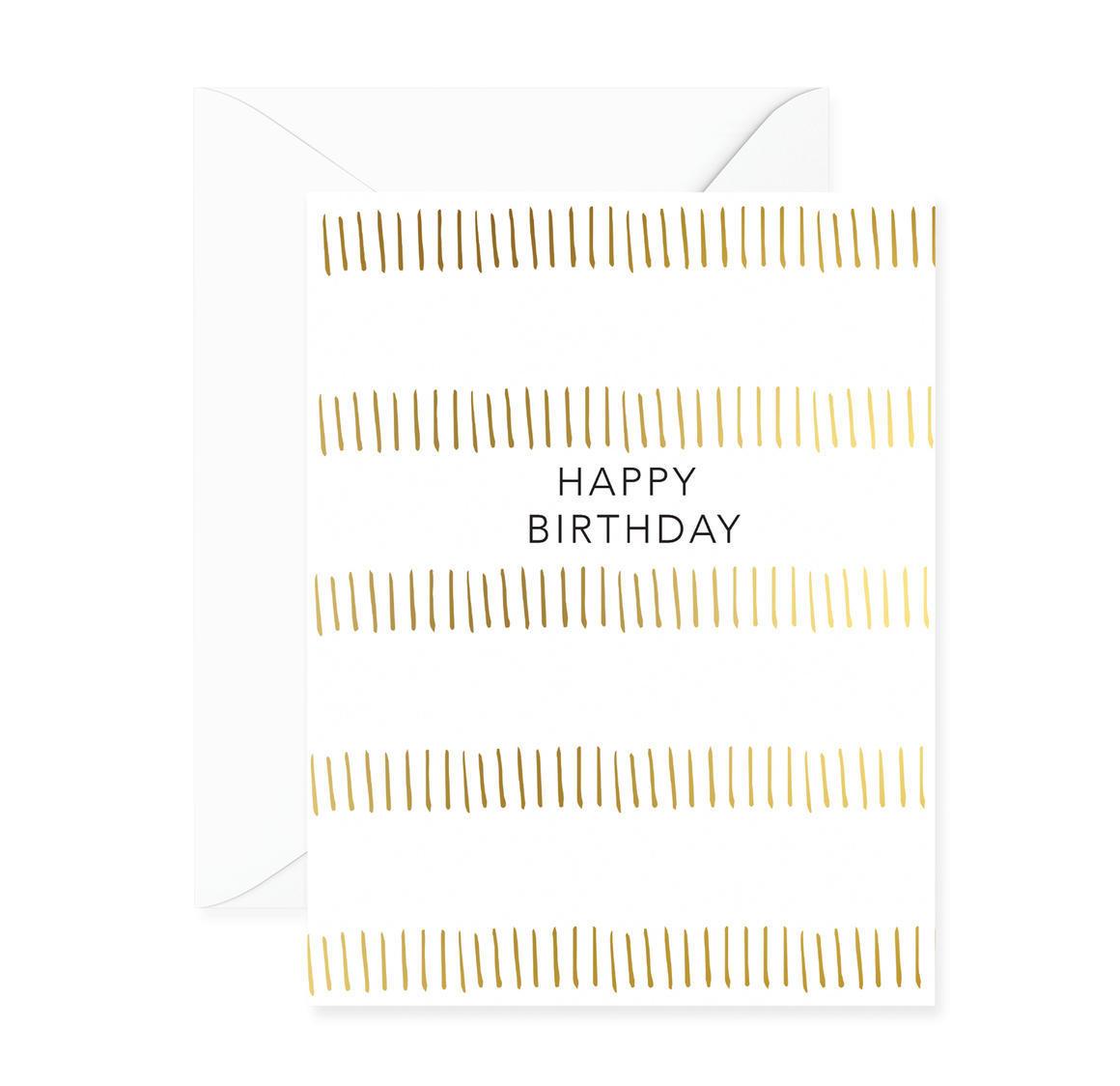 Happy Birthday Stripes Greeting Card | Trada Marketplace