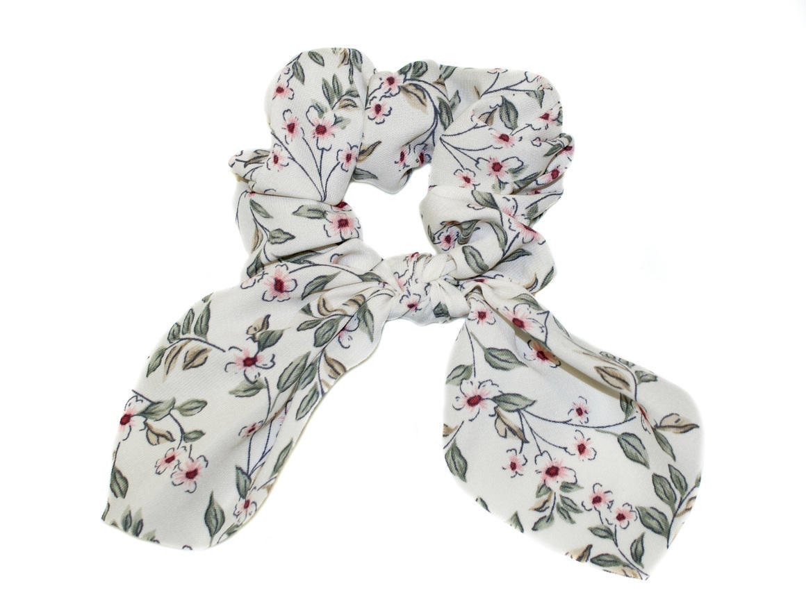 FLORAL KNOT TIE SCARF SCRUNCHIE | Trada Marketplace