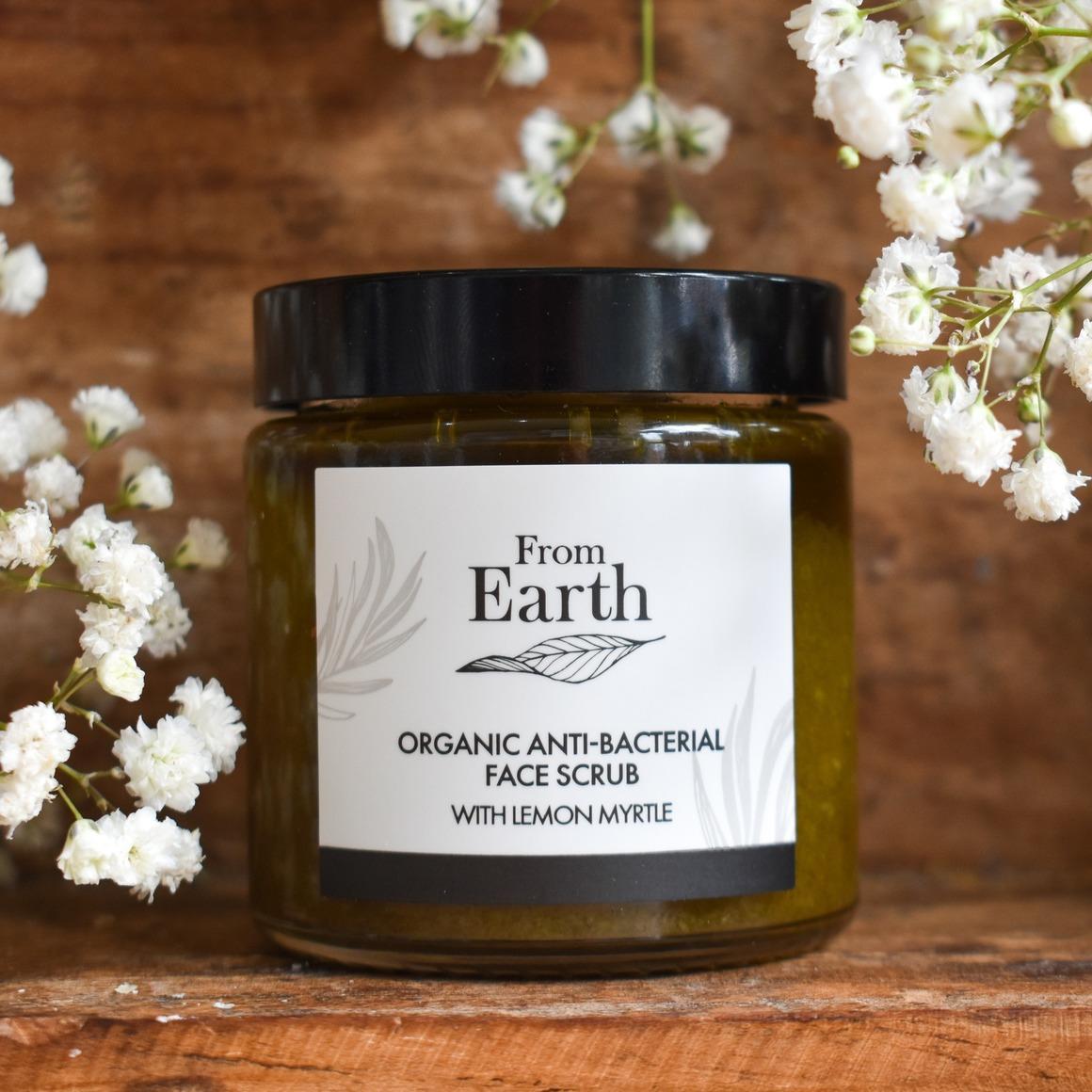 Organic Anti-Bacterial Face Scrub - With Lemon Myrtle   Trada Marketplace