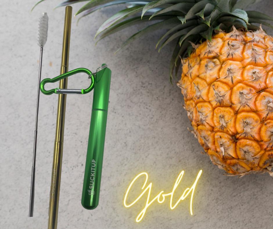 SUCKITUPstraws Telescopic Straw Case-Green | Trada Marketplace