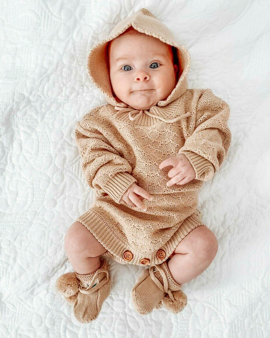Organic Knitted Romper - August | Trada Marketplace