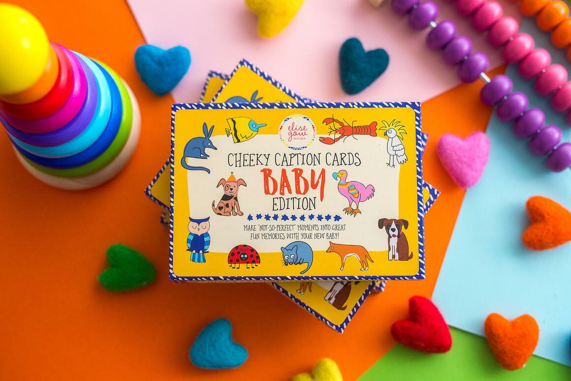 Cheeky Caption Cards - Baby Edition | Baby Milestone Cards | Trada Marketplace