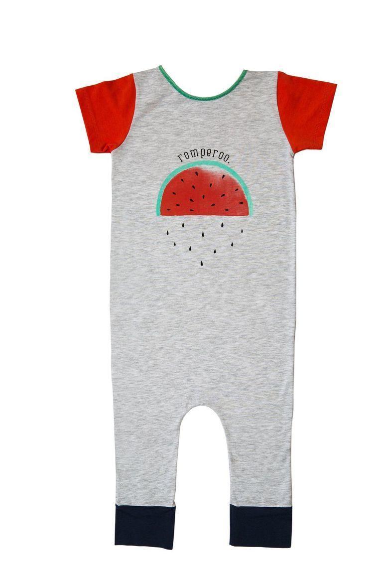Watermelon short sleeve cotton romper | Trada Marketplace