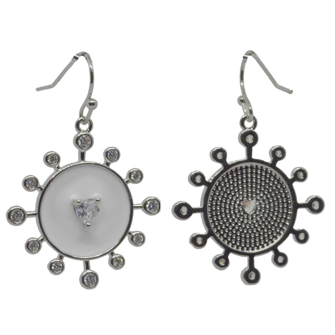 Sunshine Earring White Silver | Trada Marketplace