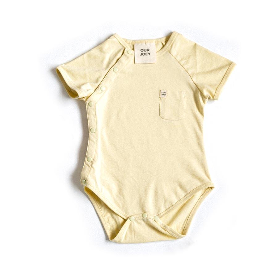 Organic Short-sleeve Bodysuit - Pear | Trada Marketplace
