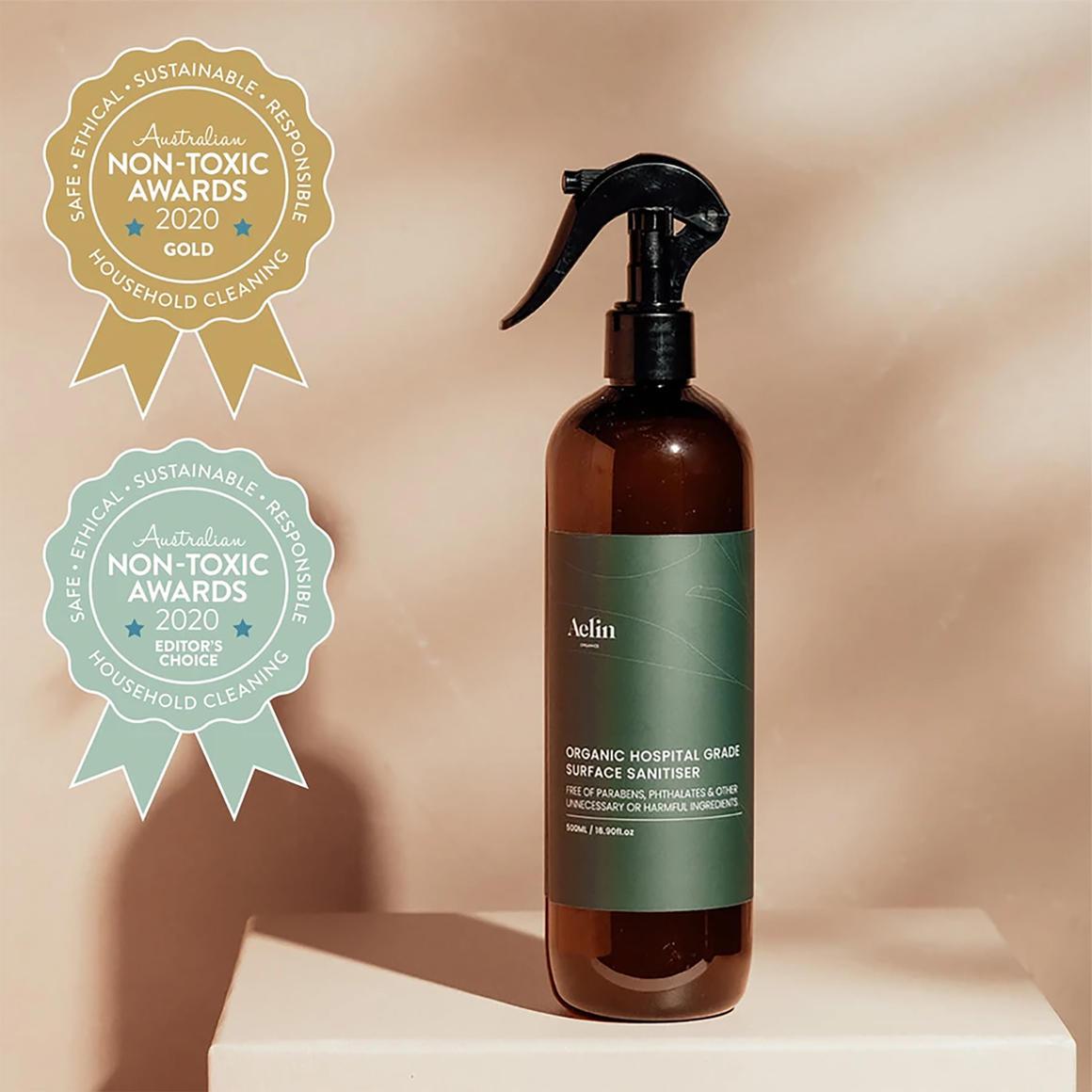 Certified Organic Sanitising Spray 500ml Hospital Grade   Trada Marketplace