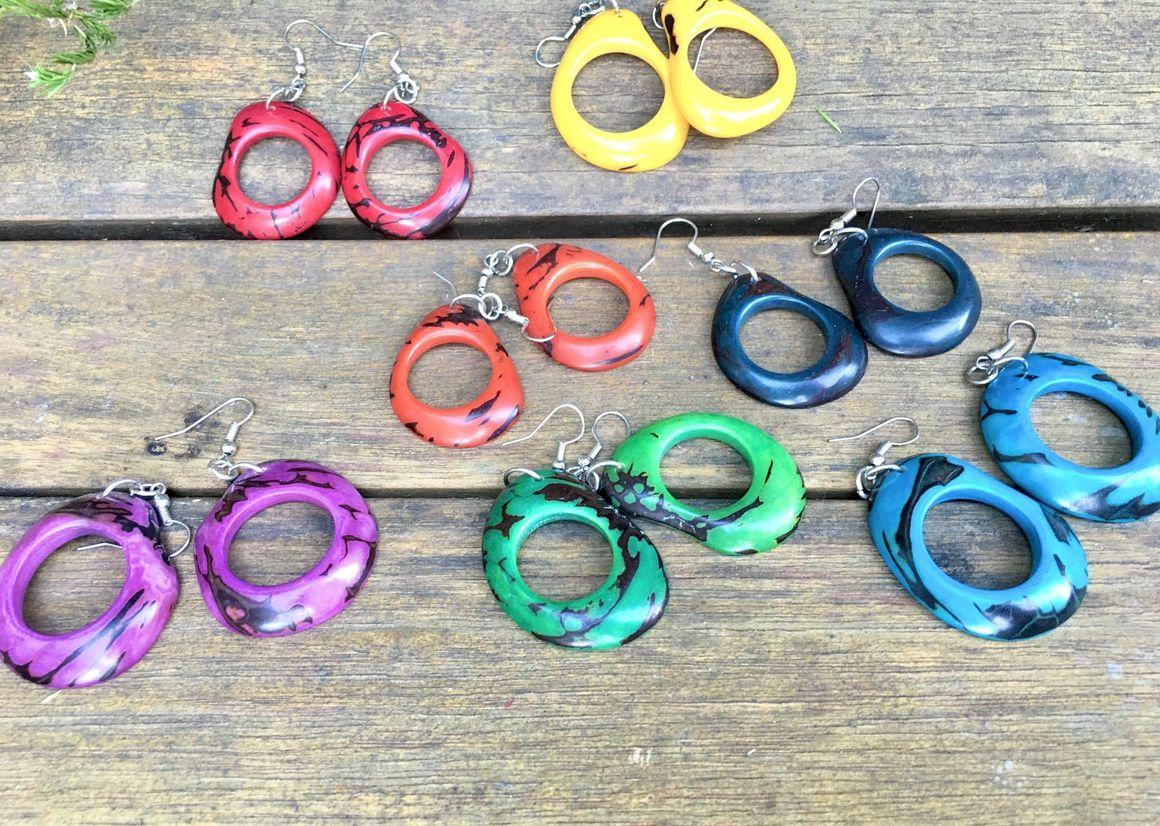 Hollow centre Tagus earrings | Trada Marketplace