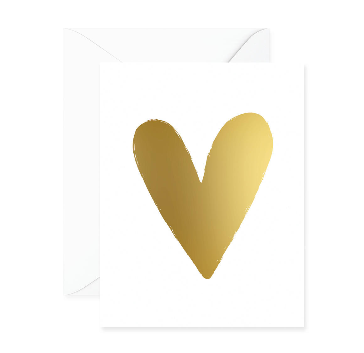 Heart Gold Foil Greeting Card | Trada Marketplace