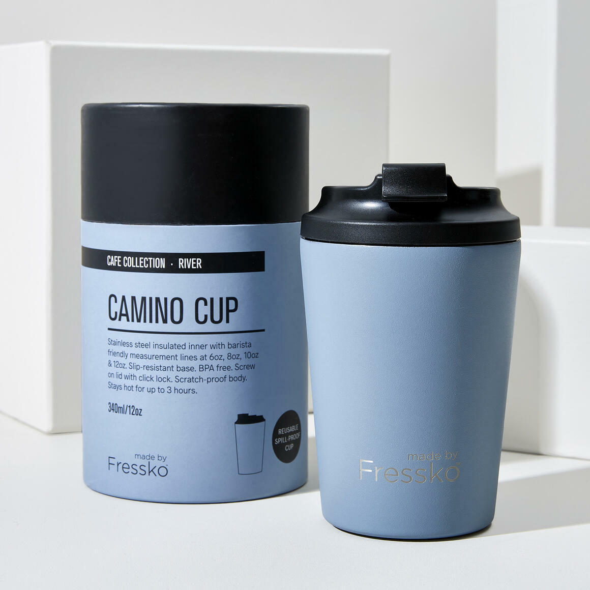 Fressko CAMINO Stainless Steel Reusable Cup BLUE | Trada Marketplace