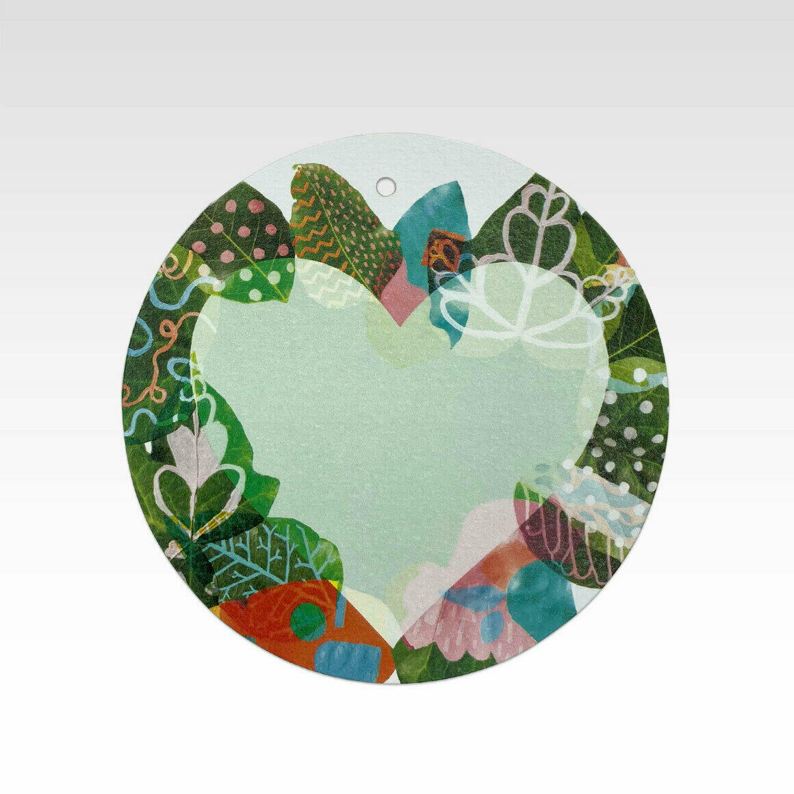 TAG075 – Painted Leaves Heart   Trada Marketplace