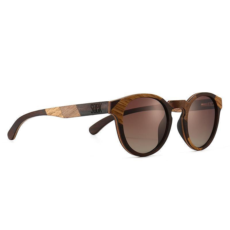 THE DRIFTER- Maple and Ebony Wooden Frame with Gradual Brown Polarized Lens  - Adult | Trada Marketplace