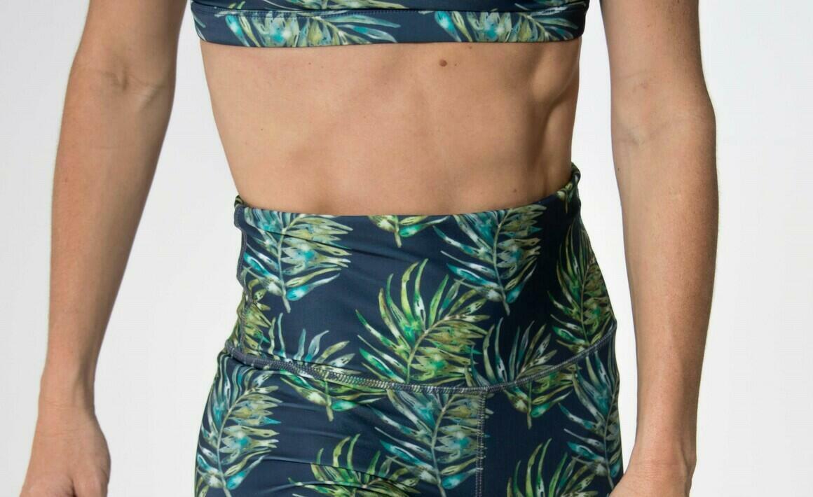 Bike Shorts- New Leaf  Watercolour   Trada Marketplace