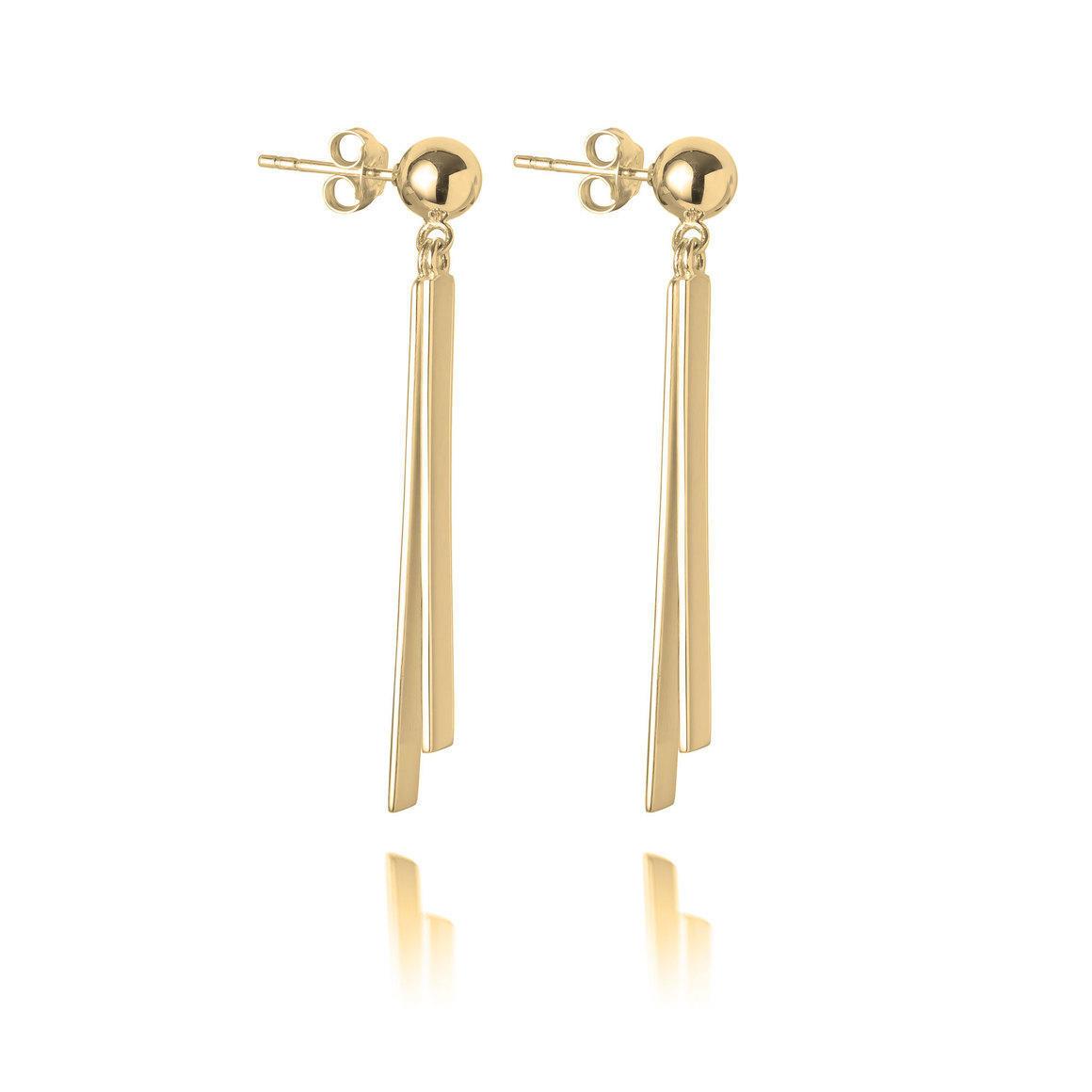 Ball & Double Bar Earrings | Trada Marketplace