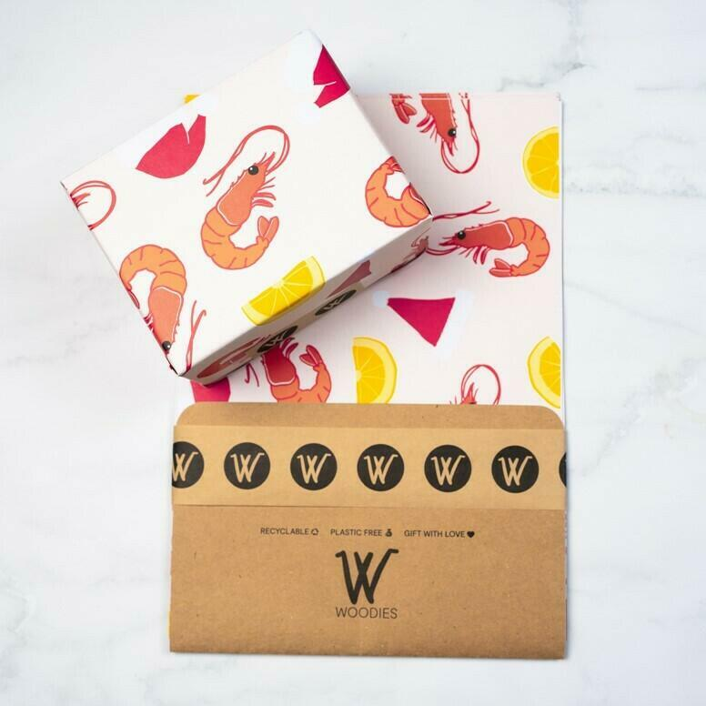 Prawn Summer - Recycled Wrapping Paper | Trada Marketplace