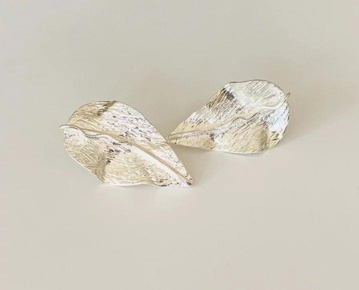 Hojas Amazonicas / Carebbean Leaves Earrings (silver) | Trada Marketplace