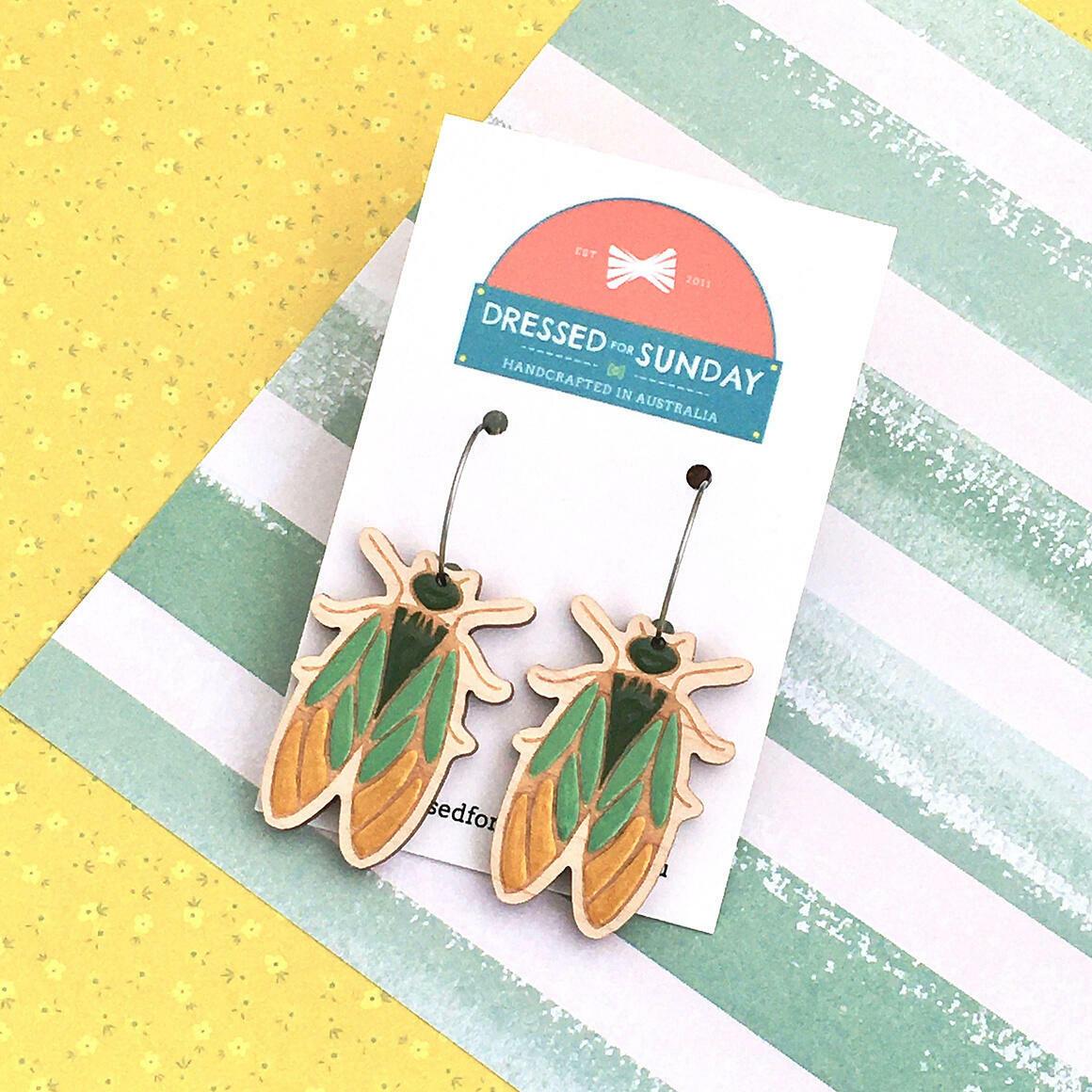 In the Garden Cicada Earrings   Trada Marketplace