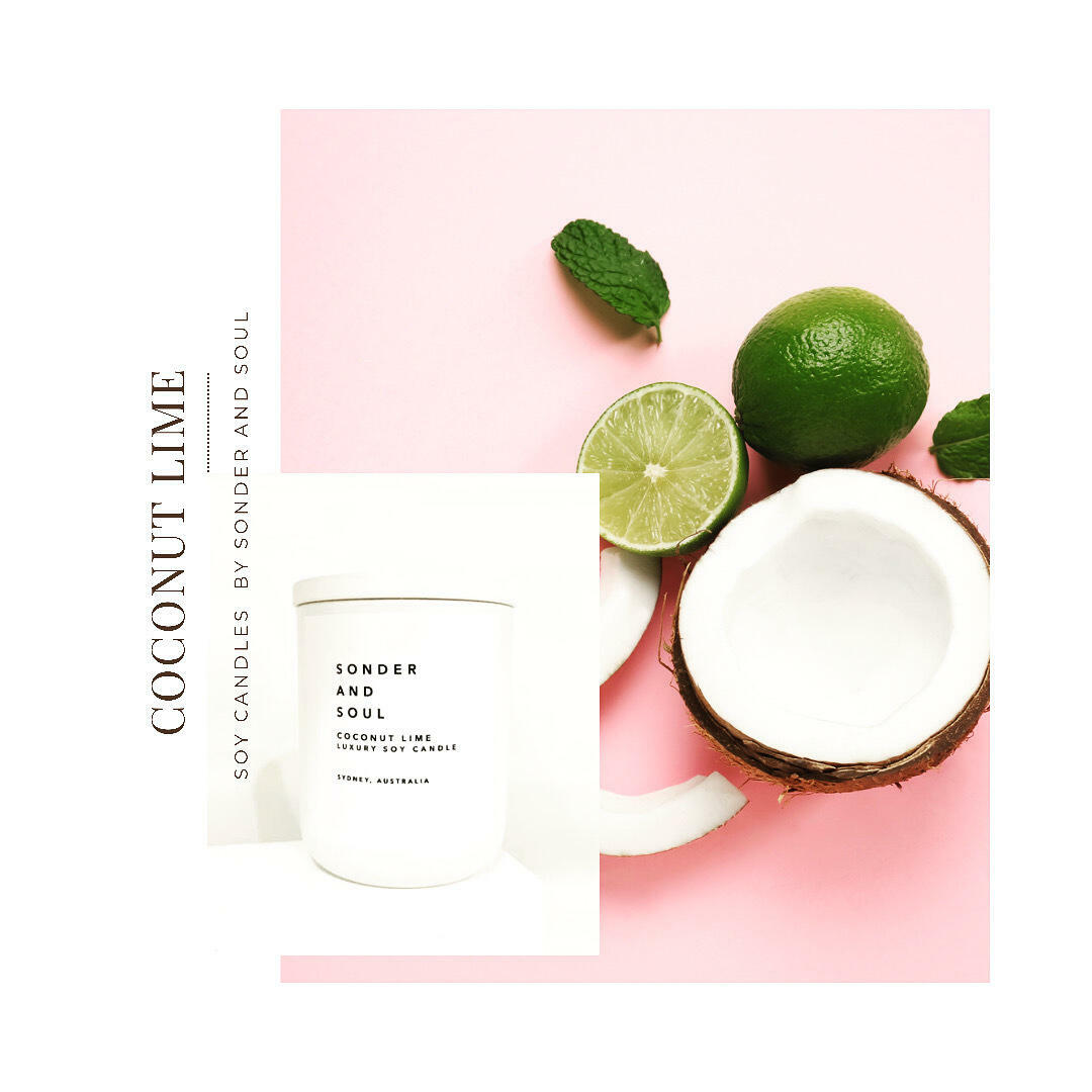 COCONUT LIME SOY CANLDLE   Trada Marketplace
